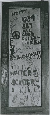 "The Manson Family's ""Helter Skelter"" door."