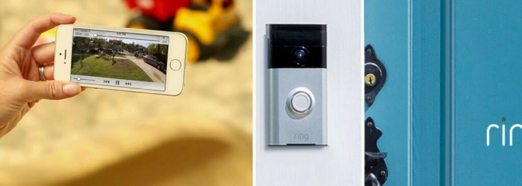 The Ring doorbell live view